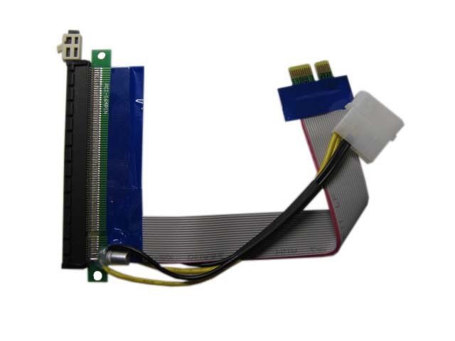 Кабель удлинитель PCI-E x1 Male to PCI-E x16 Female 15см с питанием, riser bitcoin райзер биткоин, Espada